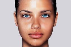 Нанесение тональной основы для жирной кожи