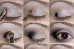 Рисунок 1. Поэтапная техника нанесения макияжа на глаза