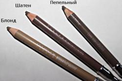 Виды карандашей для бровей