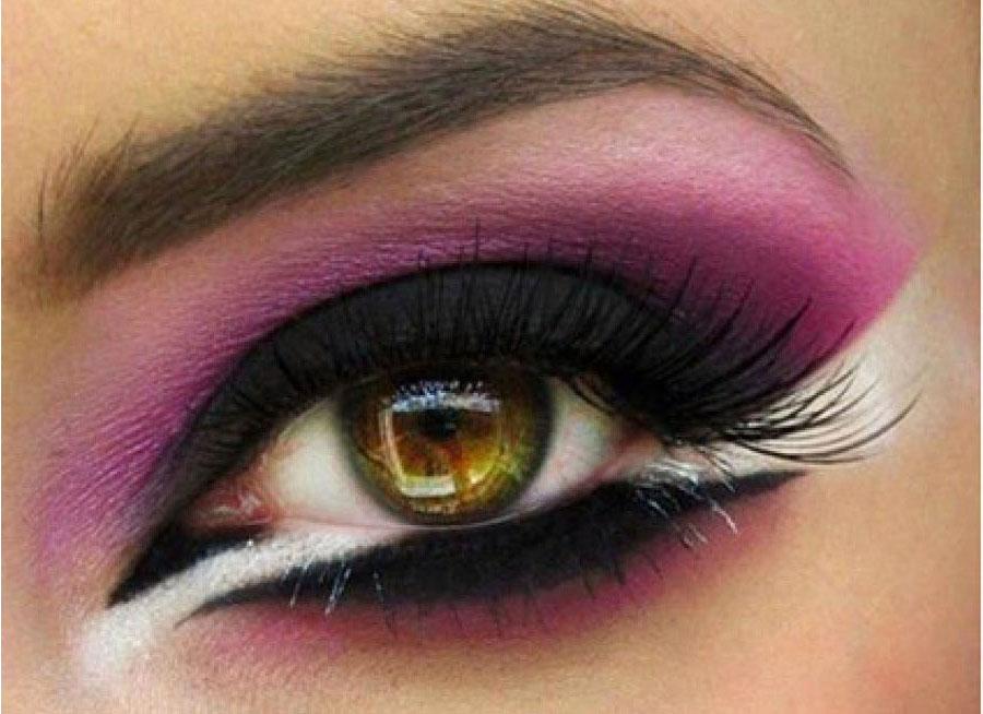 Макияж глаз в лилово-сиреневой оттенке