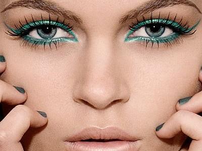 Яркий вечерний макияж глаз