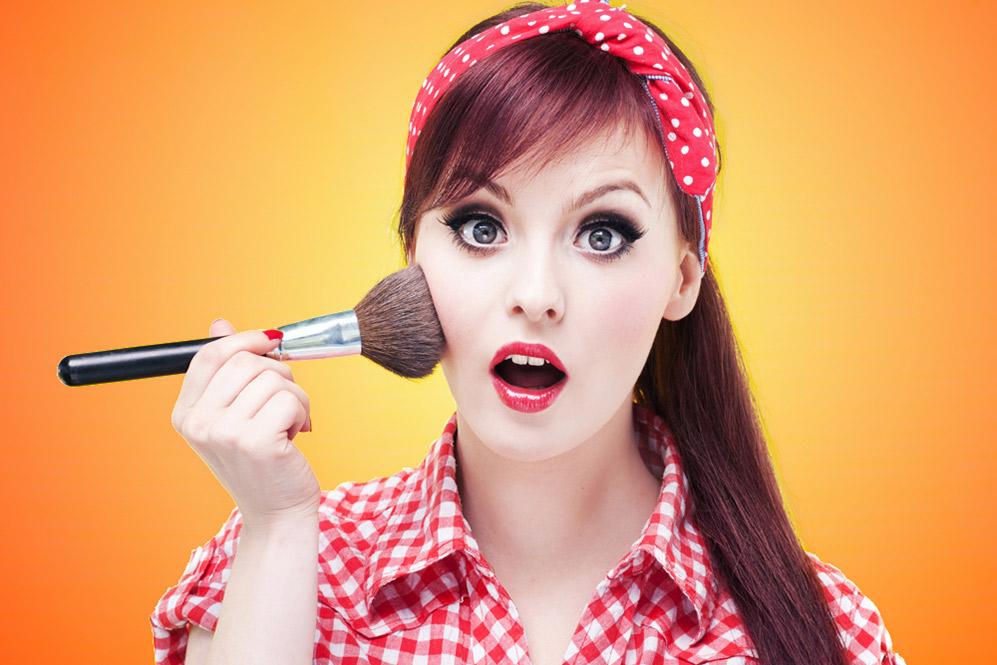 Готовый макияж пин ап