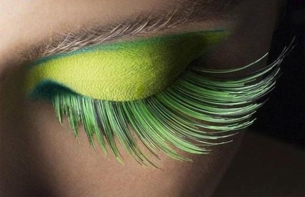 Зеленые накладные ресницы