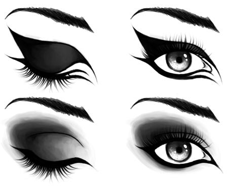 Макияж глаз в готическом стиле