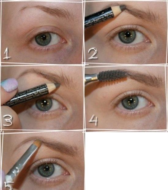Схема рисования брови