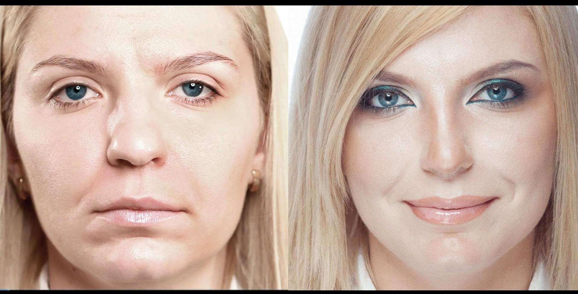 Как сделать нос уже косметикой