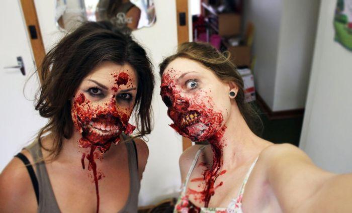 Готовый грим зомби