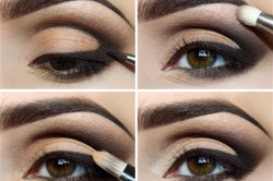 Поэтапное нанесение макияжа Smoky eyes