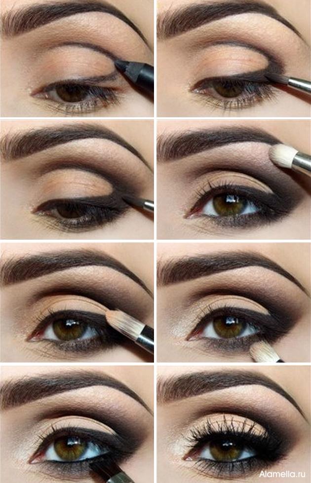 Как сделать смоки айс для карих глаз пошаговое фото