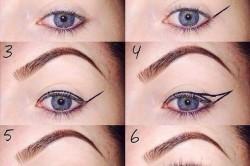 Порядок выполнения арабского макияжа: наведение стрелок
