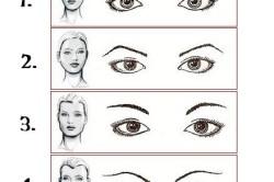 Рисунок 2. Зависимость формы бровей от типа лица