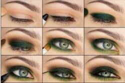 Схема 2. Дымчатый макияж для зеленых глаз