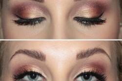 Вариант макияжа для серых глаз
