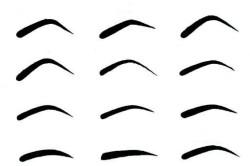 Разные формы бровей