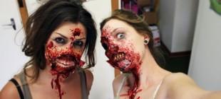 Как самостоятельно сделать грим зомби