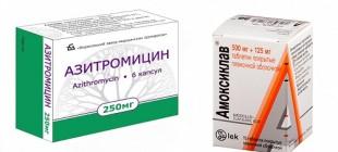 Азитромицин или Амоксиклав: что лучше?