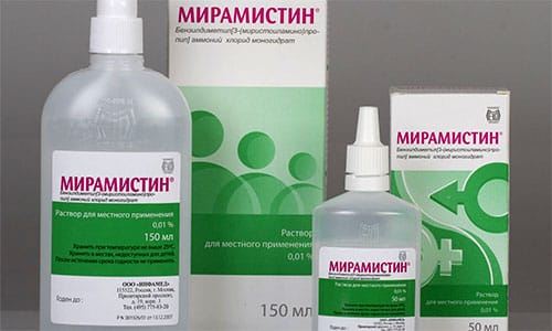 Мирамистин показан при гайморите, грибке ногтей, уретрите, трофических язвах, дерматофитии
