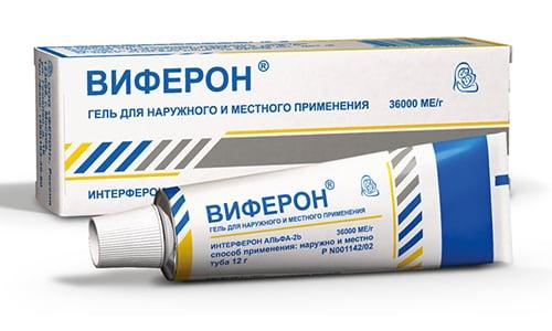 Виферон в форме геля оказывает прямое противовирусное действие, он эффективен в отношении вирусов, вызывающих грипп, герпес, гепатит и т.д