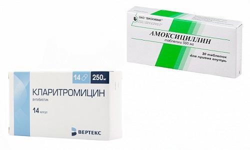 Амоксициллин и Кларитромицин - антибиотики, которые взаимно усиливают друг друга, оказывают быстрый эффект без осложнений