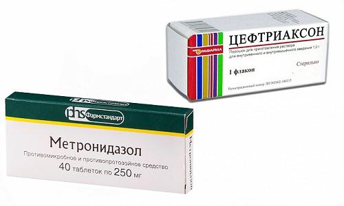 Метронидазол и Цефтриаксон используют для антибактериального лечения при отдельных видах абдоминальной хирургической инфекции