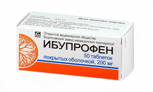 Ибупрофен уменьшает интенсивность воспалительного процесса