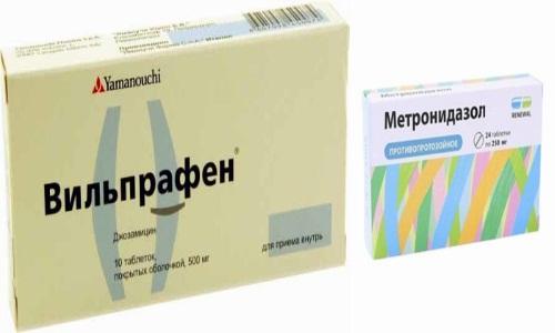 Вильпрафен и Метронидозол принимают при заболеваниях, которые вызываются уреаплазмой