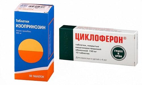Изопринозин и Циклоферон проявляют сходную эффективность в борьбе против таких инфекционных заболеваний, как цитомегаловирус, грипп