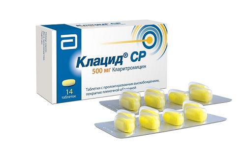 Клацид обладает бактериостатическим и антибактерильным эффектами