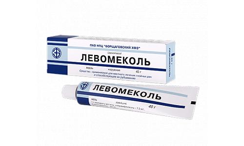 Левомеколь имеет комбинированное действие и используется для ликвидации гнойно-некротических состояний при открытых ранениях