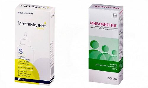 Препараты-антисептики Местамидин и Мирамистин применяются для обработки кожи и слизистых оболочек