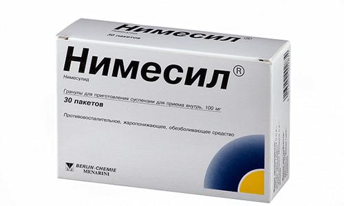 Порошок Немисила для борьбы с простудными заболеваниями растворяют в 200 г воды. Употребляют после еды