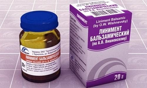 Линимент Вишневского используется при геморрое, обморожении, гинекологических заболеваниях и фурункулезе