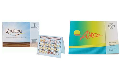 Клайра или Джес являются гормональными контрацептивами, помогают предотвратить незапланированную беременность