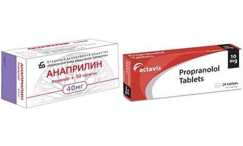 Для терапии высокого АД, снижения внутриглазного давления, предупреждения поражения сердечной мышцы используют Пропранолол или Анаприлин