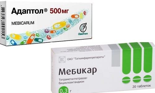 Адаптол или Мебикар принимают для коррекции тревожных и депрессивных расстройств
